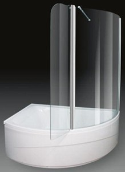 Corner Shower Bath With Screen Left Hand 1500x1000mm