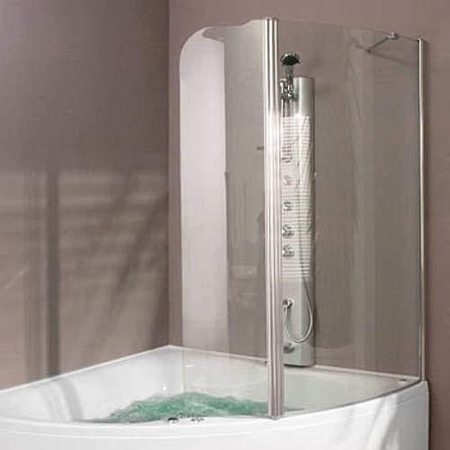 Aquaestil Gemma Hinged Bath Screen (Right Handed).  1230x1500mm.