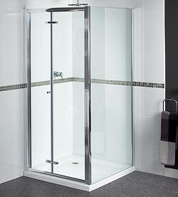 Aqualux Shine Shower Enclosure With 900mm Bi-Fold Door. 900x760mm.