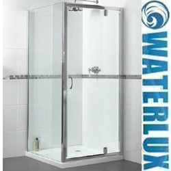 Waterlux Shower Enclosure With Pivot Door. 760x760mm, (Square).