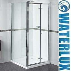 Waterlux Shower Enclosure With Bi-Fold Door. 900x900, (Square).