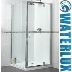 Waterlux Shower Enclosure With Pivot Door. 900x900mm, (Square).