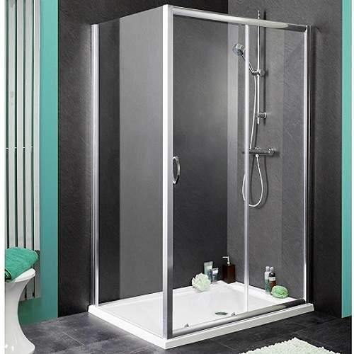 Waterlux Shower Enclosure With 1100mm Sliding Door. 1100x760mm.