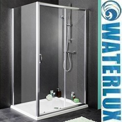 Waterlux Shower Enclosure With 1100mm Sliding Door. 1100x800mm.