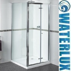 Waterlux Shower Enclosure With 760mm Bi-Fold Door. 760x700mm.