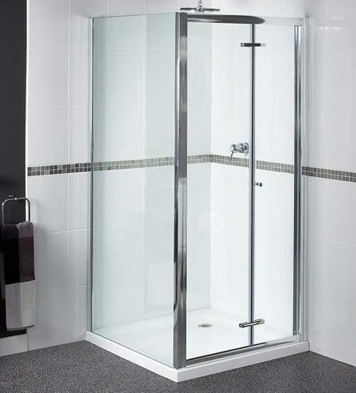 Waterlux Shower Enclosure With 900mm Bi-Fold Door. 900x700mm.