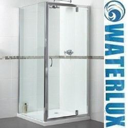 Waterlux Shower Enclosure With 900mm Pivot Door. 900x700mm.