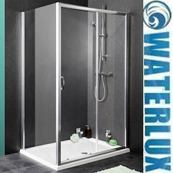 Waterlux Shower Enclosure With 1100mm Sliding Door. 1100x700mm.