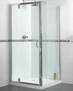 Aqualux Shine Shower Enclosure With 760mm Pivot Door. 760x800mm.