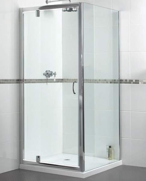 Aqualux Shine Shower Enclosure With Pivot Door. 900x900mm, (Square).