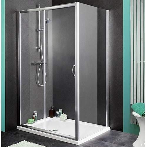 Aqualux Shine Shower Enclosure With 1100mm Sliding Door. 1100x800mm.