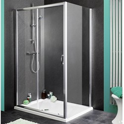 Aqualux Shine Shower Enclosure With 1700mm Sliding Door. 1700x800mm.