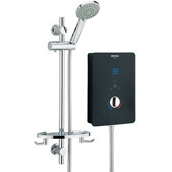 Bristan Bliss Electric Shower With Digital Display 10.5kW (Gloss Black).