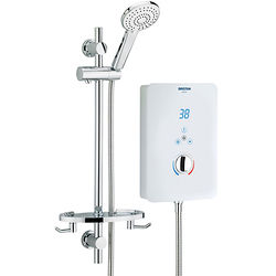 Bristan Bliss Electric Shower With Digital Display 8.5kW (Gloss White).