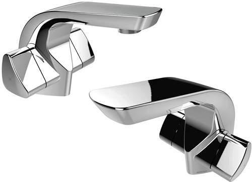 Bristan Bright Mono Basin & 1 Hole Bath Filler Taps Pack (Chrome).