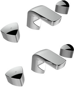 Bristan Bright 3 Hole Basin & Bath Filler Taps Pack (Chrome).