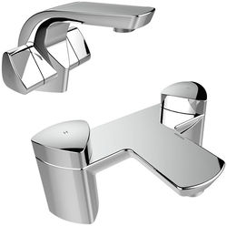 Bristan Bright Mono Basin & Bath Filler Taps Pack (Chrome).