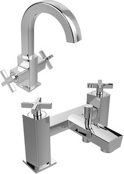 Bristan Cascade Basin & Bath Shower Mixer Taps Pack (Chrome).