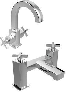 Bristan Cascade Basin & Bath Filler Tap Pack (Chrome).