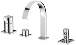 Bristan Chill 4 Hole Bath Shower Mixer Tap (Chrome).