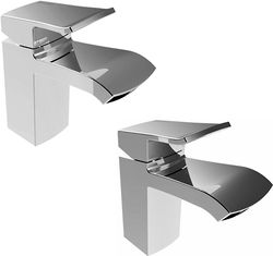 Bristan Descent Basin Mixer & 1 Hole Bath Filler Tap Pack (Chrome).