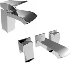 Bristan Descent Mono Basin & Wall Mounted Bath Filler Tap Pack (Chrome).