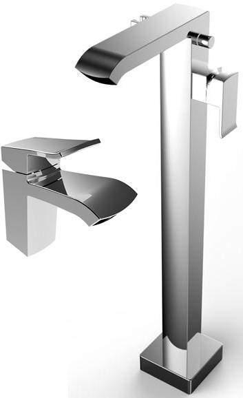Bristan Descent Mono Basin & Floor Standing Bath Shower Mixer Tap Pack.