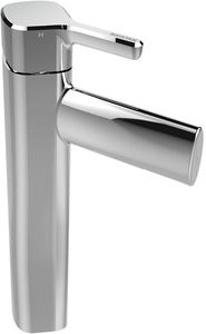 Bristan Flute Tall Basin Mixer Tap With Clicker Waste (Chrome).