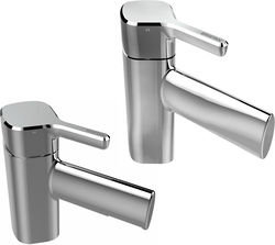Bristan Flute Mono Basin Mixer & 1 Hole Bath Filler Tap Pack (Chrome).