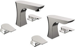 Bristan Hourglass 3 Hole Basin & Bath Filler Taps Pack (Chrome).