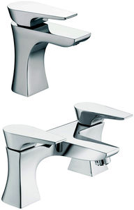 Bristan Hourglass Mono Basin & Bath Filler Taps Pack (Chrome).