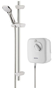 Bristan Power Showers 1000 Thermostatic Power Shower In White.