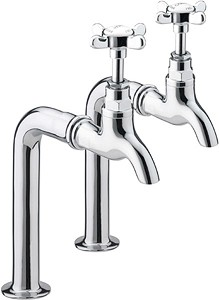 Bristan 1901 Bib Taps With Up Stands (Pair, Chrome Plated).