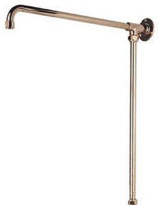 Bristan 1901 Fixed Rigid Riser Rail, Gold Plated.