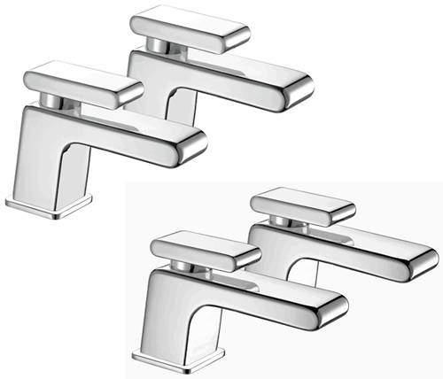 Bristan Pivot Basin & Bath Taps Pack (Chrome).