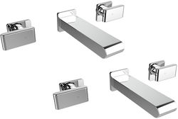 Bristan Pivot Wall Mounted Basin & Bath Filler Tap Pack (Chrome).