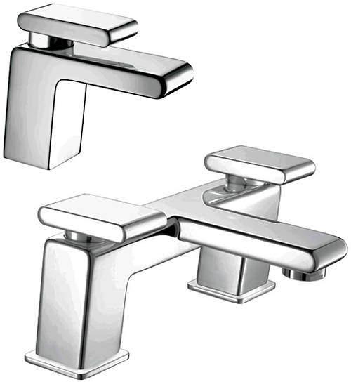 Bristan Pivot Basin & Bath Filler Taps Pack (Chrome).