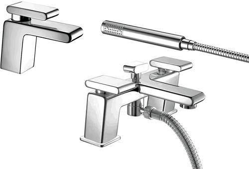 Bristan Pivot Basin & Bath Shower Mixer Taps Pack (Chrome).