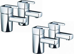 Bristan Qube Basin & Bath Taps Pack (Chrome).
