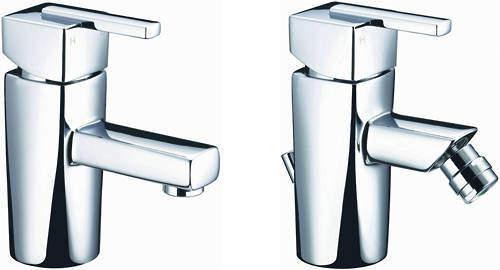 Bristan Qube Mono Basin & Bidet Taps Pack (Chrome).