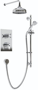 Bristan Renaissance Thermostatic Recessed Dual Control Shower Pack.