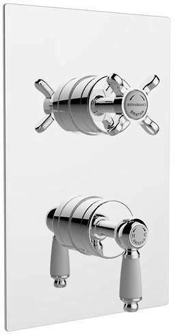 Bristan Renaissance Dual Thermostatic Shower Valve With 2 x Outlet Diverters.
