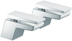 "Bristan Sail 3/4"" Bath Taps (Chrome)."