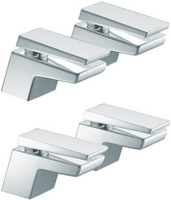 Bristan Sail Basin & Bath Taps Pack (Chrome).