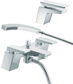 Bristan Sail Mono Basin & Bath Shower Mixer Tap Pack (Chrome).