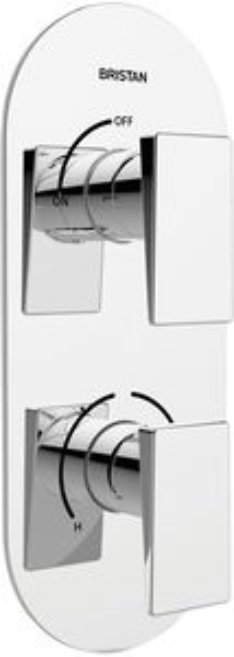 Bristan Sail Thermostatic Dual Control Shower Valve (Chrome).