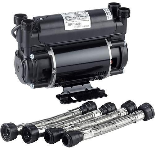 Bristan Pumps Twin Flow Single Speed Impeller Shower Pump 2 Bar (High Boost).