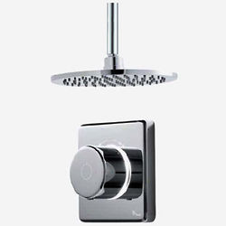 "Digital Showers Digital Shower Valve, Ceiling Arm & 8"" Shower Head (HP)."