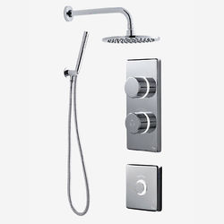 Digital Showers Twin Digital Shower Pack, Round Head, Remote & Kit (HP).