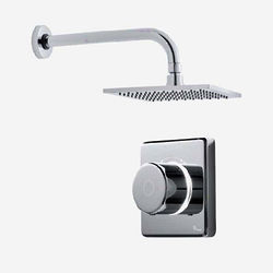 "Digital Showers Digital Shower Valve, Wall Arm & 8"" Shower Head (LP)."